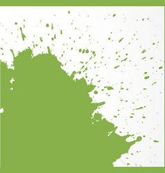Abstract grunge splash greenery - color the vector