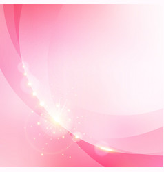 Abstract pink blurred bokeh background with gold vector