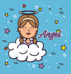 Angel fairy godmother pop art vector