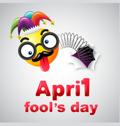 April fools day typography colorful design vector