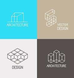 Architecture logos vector