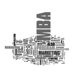 Are you a suitable mba candidate text word cloud vector
