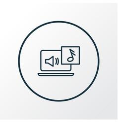 audio content icon line symbol premium quality vector image