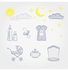 Baby fashion set vector image