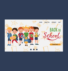 back to school kids learning education vector image