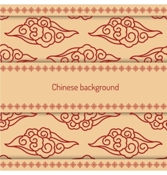 background decorated chinese pattern vector image