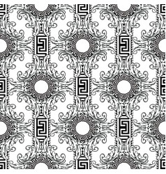Baroque seamless pattern greek key meanders vector