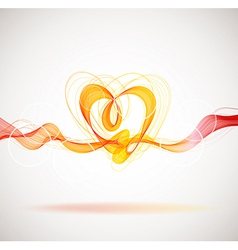 Beautiful Valentines background with abstract vector