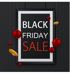 black friday poster background vector image