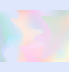 Blurry holographic background iridescent hologram vector