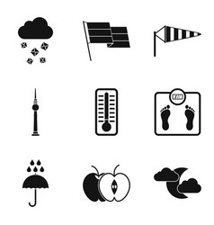 Breeze icons set simple style vector