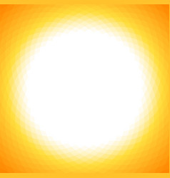 bright yellow sun geometric background with white vector image