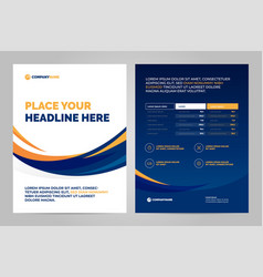 Brochure layout template design vector
