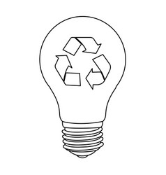 Bulb save eco icon vector