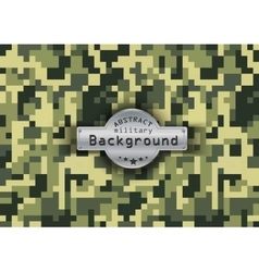 Camouflage military pattern with stars background vector image