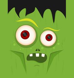 cartoon zombie in flat style happy halloween vector image