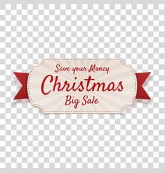 christmas big sale decorative tag vector image
