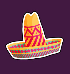 colourful cartoon sombrero vector image