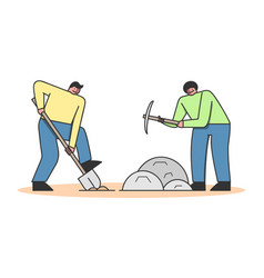 Concept of archeology excavation archaeologists vector