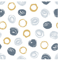 creative seamless pattern with gray and brown vector image