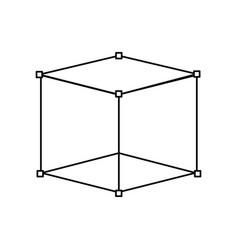 cube 3d graph design element vector image