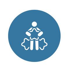 Customer choice line icon vector