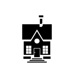 Cute countryside house icon simple style vector image
