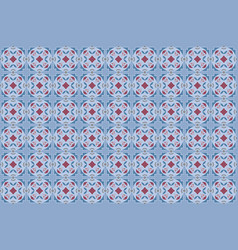 decorative ceramic seamless tiles in blue tones vector image