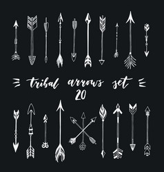 Different tribal native american arrows collection vector