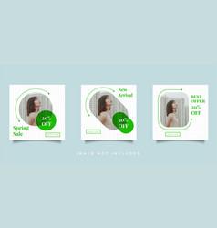 fashion social media feed post promotion design vector image