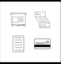 finance banking and money simple linear icon vector image