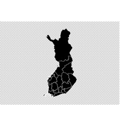 Finland map - high detailed black map vector