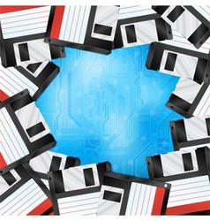 Floppy disk border vector