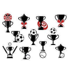 Football or soccer darts baseball competition vector image