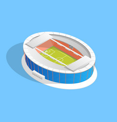 football stadium soccer concept 3d isometric view vector image