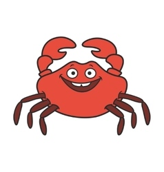 funny cartoon crab vector image