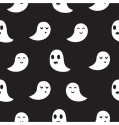 Ghost black seamless pattern vector image