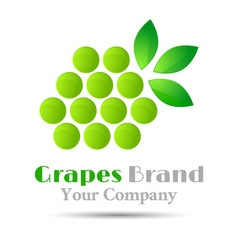Grapes logo winemaking mark bunch grapes green vector