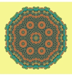 Green Mandala Background for greeting card vector image