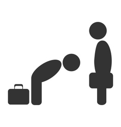 Greeting etiquette business situation icon vector