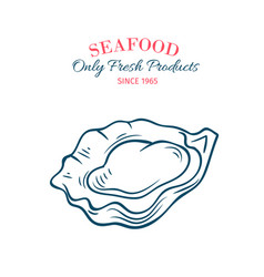 Hand drawn oyster icon vector