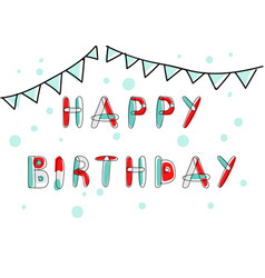 happy birthday card and banner vector image