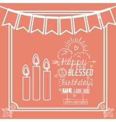 happy birthday design vector image