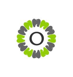 healthy dental care letter o vector image