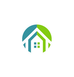 house icon realty company logo vector image