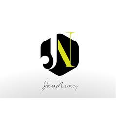 J n logo j n letter design vector