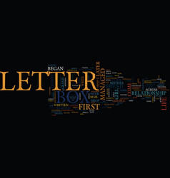 Letter box text background word cloud concept vector
