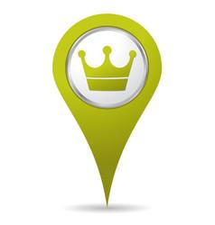 location crown icon vector image