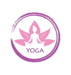 Lotus yoga zen logo template d vector