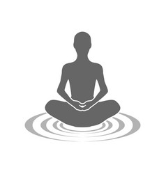 Meditation echoes symbol logo design vector